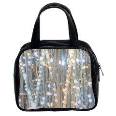 String Of Lights Christmas Festive Party Classic Handbag (two Sides) by yoursparklingshop