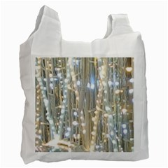 String Of Lights Christmas Festive Party Recycle Bag (one Side) by yoursparklingshop