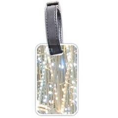 String Of Lights Christmas Festive Party Luggage Tag (two Sides) by yoursparklingshop
