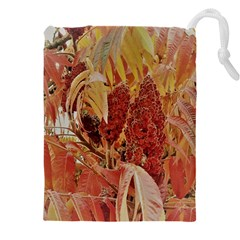 Autumn Colors Leaf Leaves Brown Red Drawstring Pouch (5xl)