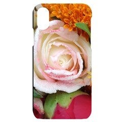 Floral Bouquet Orange Pink Rose Iphone X/xs Black Uv Print Case