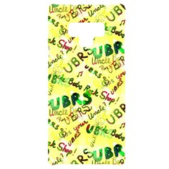 Ubrs Yellow Samsung Note 9 Black Uv Print Case  by Rokinart
