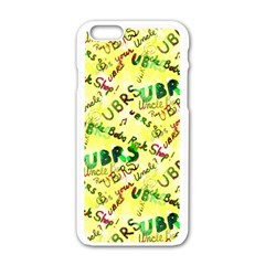 Ubrs Yellow Iphone 6/6s White Enamel Case by Rokinart