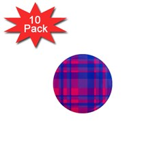 Bisexual Plaid 1  Mini Magnet (10 Pack)  by NanaLeonti