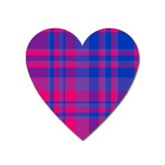 Bisexual Plaid Heart Magnet by NanaLeonti