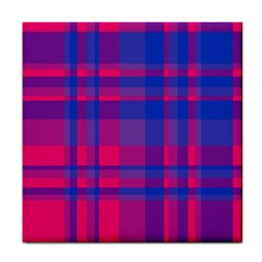 Bisexual Plaid Face Towel by NanaLeonti