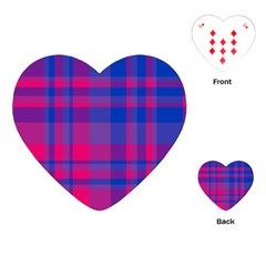 Bisexualplaid Playing Cards Single Design (heart) by NanaLeonti