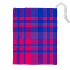 Bisexual Plaid Drawstring Pouch (4xl)
