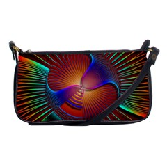 Lines Rays Background Light Rainbow Shoulder Clutch Bag by Bajindul