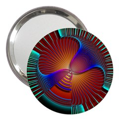 Lines Rays Background Light Rainbow 3  Handbag Mirrors by Bajindul