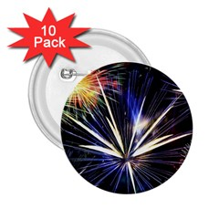 Fireworks Rocket Night Lights 2 25  Buttons (10 Pack)  by HermanTelo