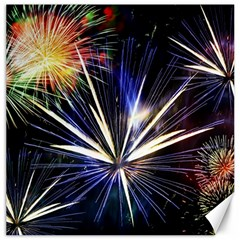 Fireworks Rocket Night Lights Canvas 12  X 12