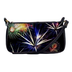 Fireworks Rocket Night Lights Shoulder Clutch Bag
