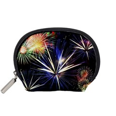 Fireworks Rocket Night Lights Accessory Pouch (small) by HermanTelo