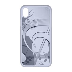 Dance Music Treble Clef Sound Girl Iphone Xr Seamless Case (white)