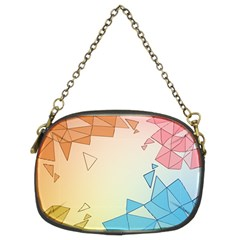 Background Pastel Geometric Lines Chain Purse (two Sides) by Alisyart