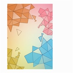 Background Pastel Geometric Lines Small Garden Flag (two Sides)