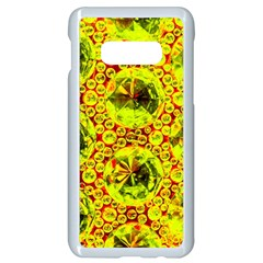 Cut Glass Beads Samsung Galaxy S10e Seamless Case (white) by essentialimage
