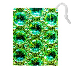 Cut Glass Beads Drawstring Pouch (4xl) by essentialimage