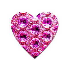 Cut Glass Beads Heart Magnet by essentialimage