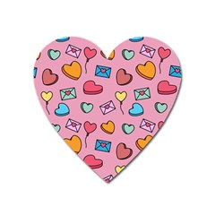 Candy Pattern Heart Magnet by Sobalvarro