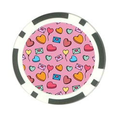 Candy Pattern Poker Chip Card Guard (10 Pack) by Sobalvarro