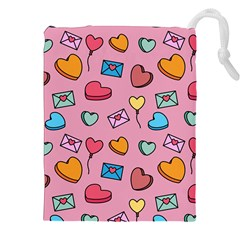 Candy Pattern Drawstring Pouch (2xl) by Sobalvarro