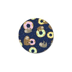 Cute Sloth With Sweet Doughnuts Golf Ball Marker (10 Pack) by Sobalvarro