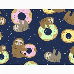 Cute Sloth With Sweet Doughnuts Canvas 12  X 16  by Sobalvarro