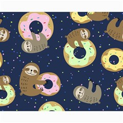 Cute Sloth With Sweet Doughnuts Canvas 16  X 20  by Sobalvarro