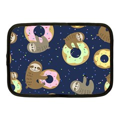 Cute Sloth With Sweet Doughnuts Netbook Case (medium) by Sobalvarro