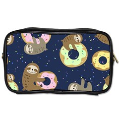 Cute Sloth With Sweet Doughnuts Toiletries Bag (one Side) by Sobalvarro