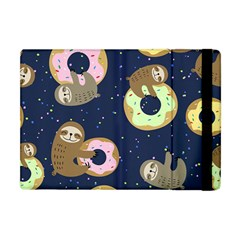Cute Sloth With Sweet Doughnuts Apple Ipad Mini Flip Case by Sobalvarro