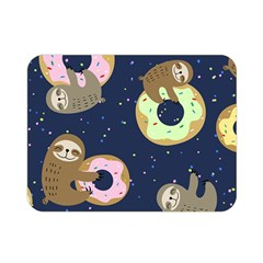 Cute Sloth With Sweet Doughnuts Double Sided Flano Blanket (mini)  by Sobalvarro
