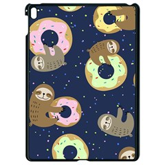 Cute Sloth With Sweet Doughnuts Apple Ipad Pro 9 7   Black Seamless Case by Sobalvarro