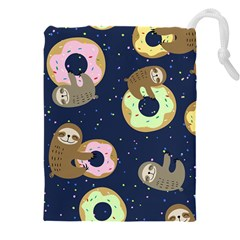Cute Sloth With Sweet Doughnuts Drawstring Pouch (5xl)