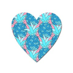 Pineapples Heart Magnet by Sobalvarro