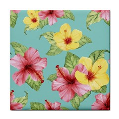 Hibiscus Tile Coaster by Sobalvarro