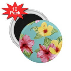 Hibiscus 2 25  Magnets (10 Pack)  by Sobalvarro