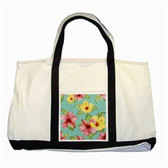 Hibiscus Two Tone Tote Bag by Sobalvarro