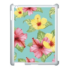 Hibiscus Apple Ipad 3/4 Case (white) by Sobalvarro