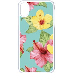 Hibiscus Iphone Xs Seamless Case (white) by Sobalvarro