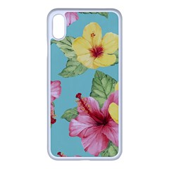 Hibiscus Iphone Xs Max Seamless Case (white) by Sobalvarro