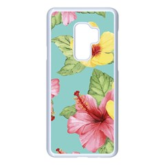 Hibiscus Samsung Galaxy S9 Plus Seamless Case(white) by Sobalvarro