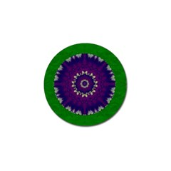 Mandala In Leaves,on Beautiful Leaves In Bohemian Style Golf Ball Marker (10 Pack) by pepitasart