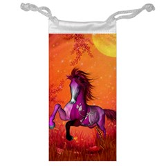 Wonderful Fantasy Horse In A Autumn Landscape Jewelry Bag by FantasyWorld7