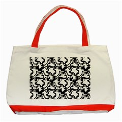 Ghosts Classic Tote Bag (red) by bloomingvinedesign