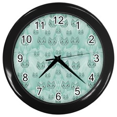 Sweet Kittens And Cats Decorative Wall Clock (black) by pepitasart