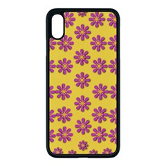 Fantasy Fauna Floral In Sweet Yellow Iphone Xs Max Seamless Case (black) by pepitasart