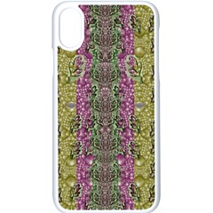 Leaves Contemplative In Pearls Free From Disturbance Iphone X Seamless Case (white) by pepitasart